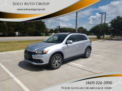 2016 Mitsubishi Outlander Sport for sale at Solo Auto Group in Mckinney TX