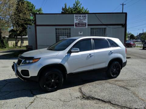 2012 Kia Sorento for sale at Richland Motors in Cleveland OH