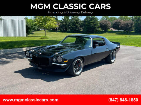 1973 Chevrolet Camaro for sale at MGM CLASSIC CARS-New Arrivals in Addison IL