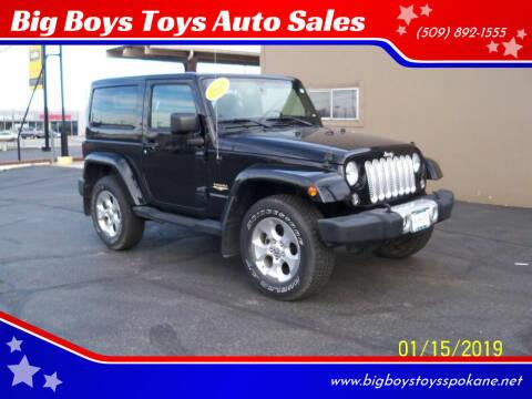 2014 Jeep Wrangler for sale at Big Boys Toys Auto Sales in Spokane Valley WA