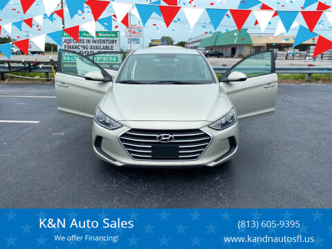2017 Hyundai Elantra for sale at K&N Auto Sales in Tampa FL