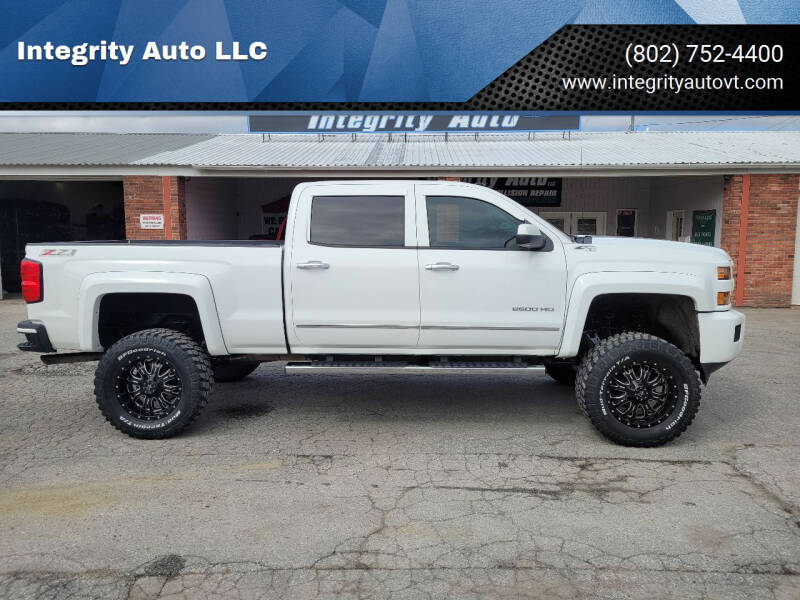 2015 Chevrolet Silverado 2500HD for sale at Integrity Auto LLC - Integrity Auto 2.0 in St. Albans VT