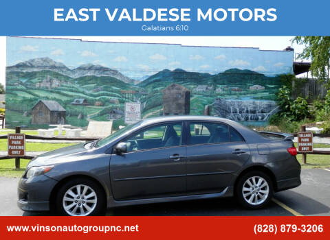 2010 Toyota Corolla for sale at EAST VALDESE MOTORS in Valdese NC