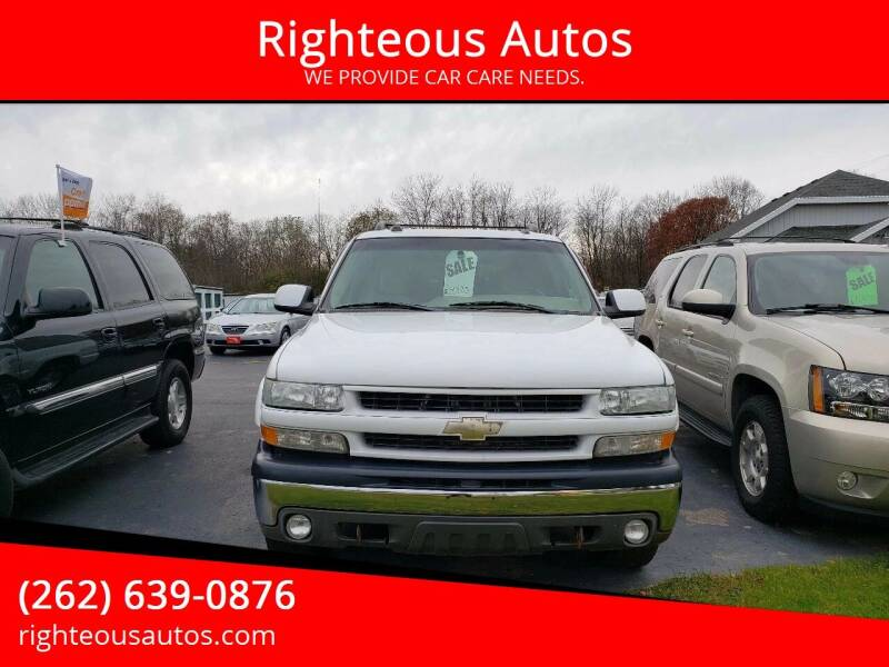 2004 Chevrolet Suburban for sale at Righteous Autos in Racine WI