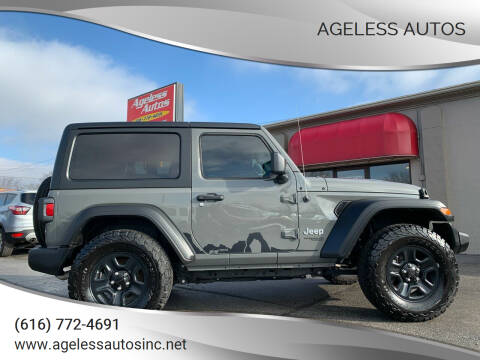 2020 Jeep Wrangler for sale at Ageless Autos in Zeeland MI
