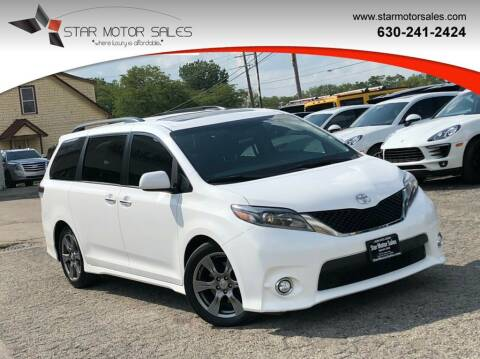 2017 Toyota Sienna for sale at Star Motor Sales in Downers Grove IL
