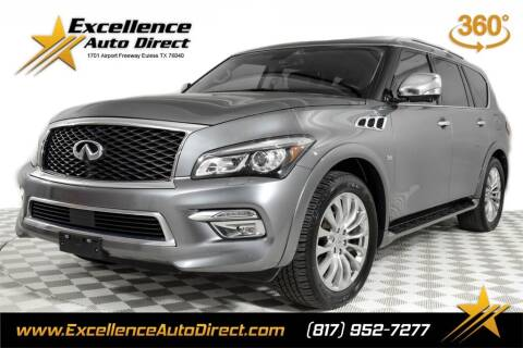 2016 Infiniti QX80 for sale at Excellence Auto Direct in Euless TX