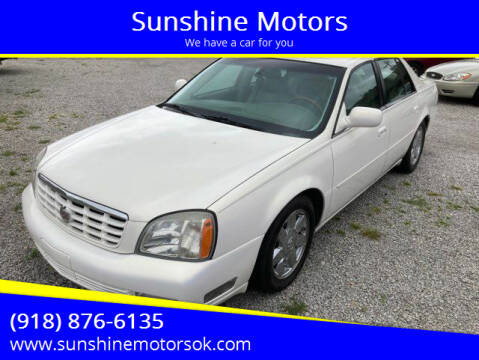 2004 Cadillac DeVille for sale at Sunshine Motors in Bartlesville OK