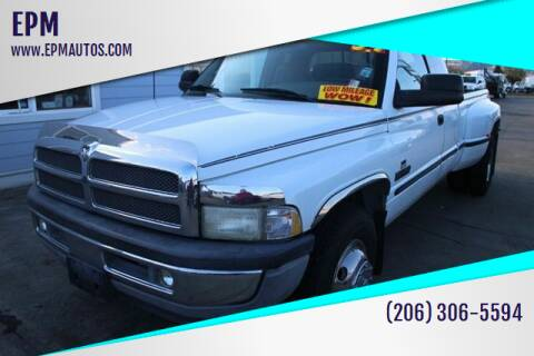 1998 Dodge Ram Pickup 3500 for sale at EPM in Auburn WA