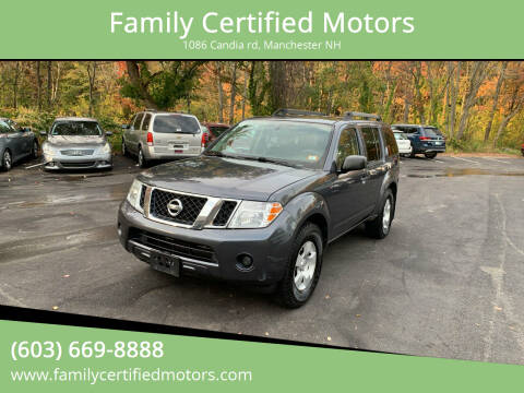 2012 Nissan Pathfinder for sale at Family Certified Motors in Manchester NH