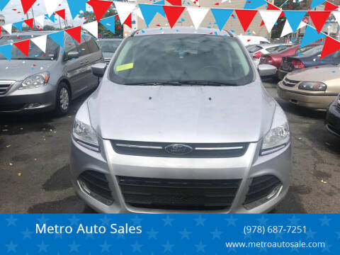 2014 Ford Escape for sale at Metro Auto Sales in Lawrence MA