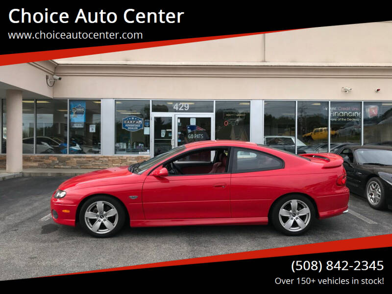 2004 Pontiac GTO for sale at Choice Auto Center in Shrewsbury MA