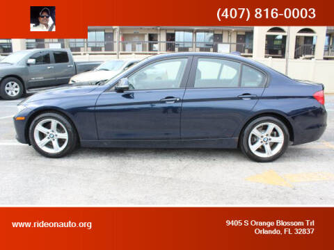 2013 BMW 3 Series for sale at Ride On Auto in Orlando FL