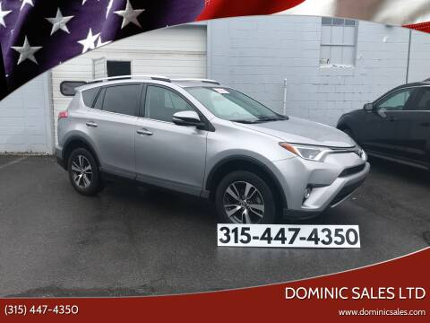 2016 Toyota RAV4 for sale at Dominic Sales LTD in Syracuse NY