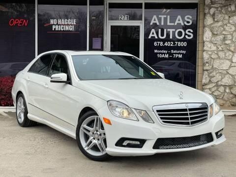 2011 Mercedes-Benz E-Class for sale at ATLAS AUTOS in Marietta GA