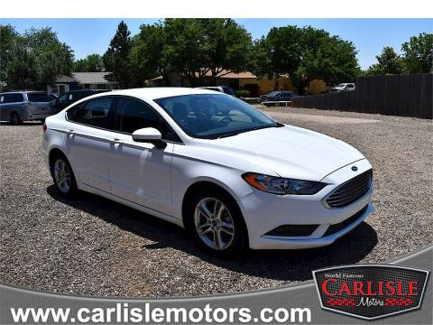 2018 Ford Fusion for sale at Carlisle Motors in Lubbock TX