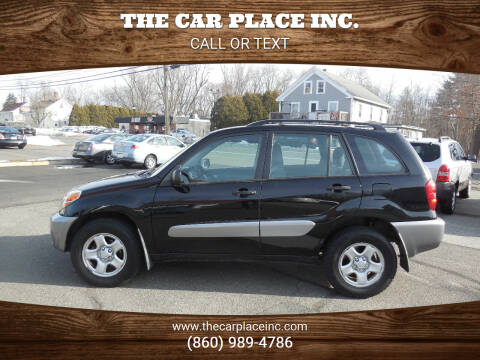 2004 Toyota RAV4 for sale at THE CAR PLACE INC. in Somersville CT