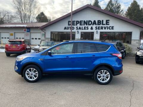 2017 Ford Escape for sale at Dependable Auto Sales and Service in Binghamton NY