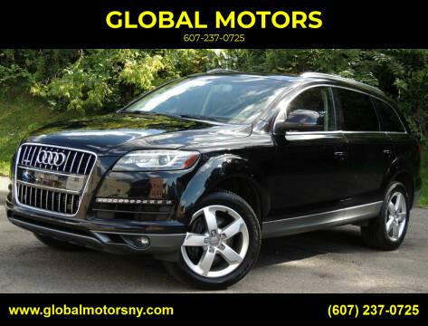 2013 Audi Q7 for sale at GLOBAL MOTORS in Binghamton NY