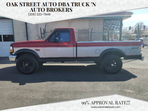 1996 Ford F-150 for sale at Oak Street Auto DBA Truck 'N Auto Brokers in Pocatello ID