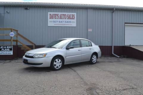 2003 Saturn Ion for sale at Dave's Auto Sales in Winthrop MN