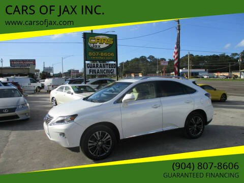 2013 Lexus RX 350 for sale at CARS OF JAX INC. in Jacksonville FL
