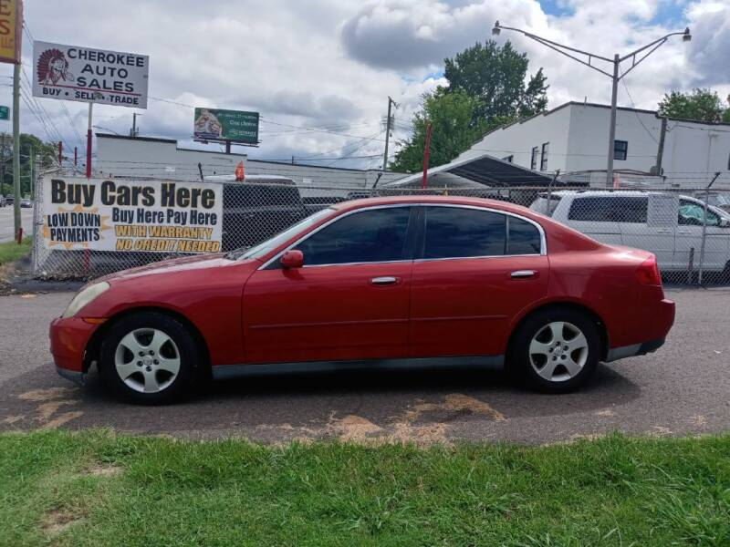 2003 Infiniti G35 for sale at Cherokee Auto Sales in Knoxville TN