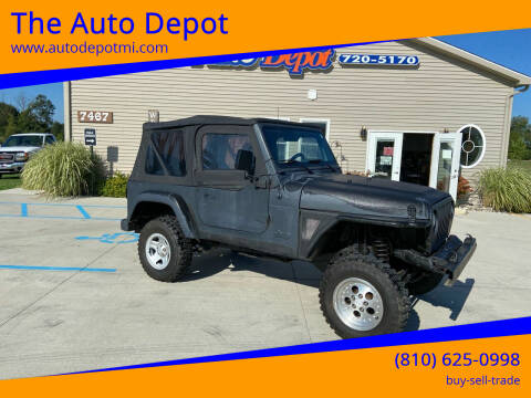 1997 Jeep Wrangler Unlimited for sale at The Auto Depot in Mount Morris MI