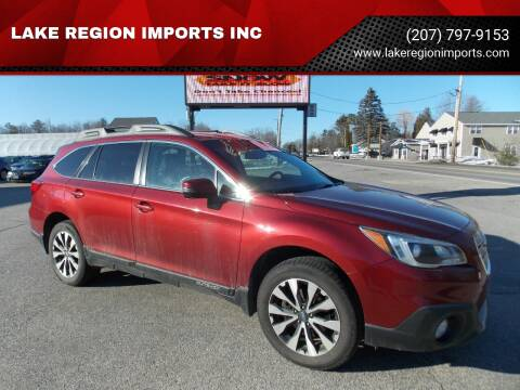 2015 Subaru Outback for sale at LAKE REGION IMPORTS INC in Westbrook ME