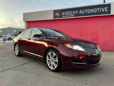 2016 Lincoln MKZ for sale at Hirschy Automotive in Fort Wayne IN
