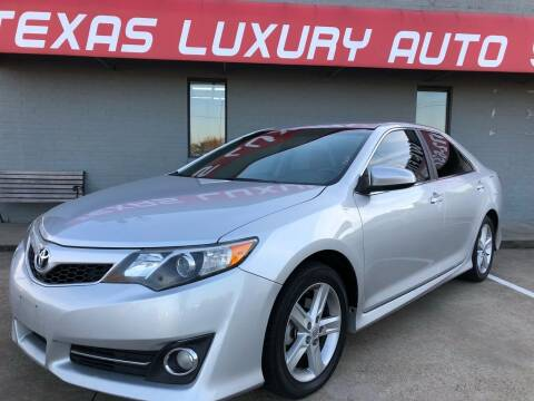 2013 Toyota Camry for sale at Texas Luxury Auto in Cedar Hill TX