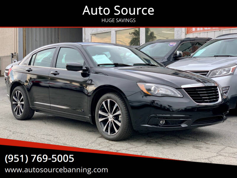 2013 Chrysler 200 for sale at Auto Source in Banning CA