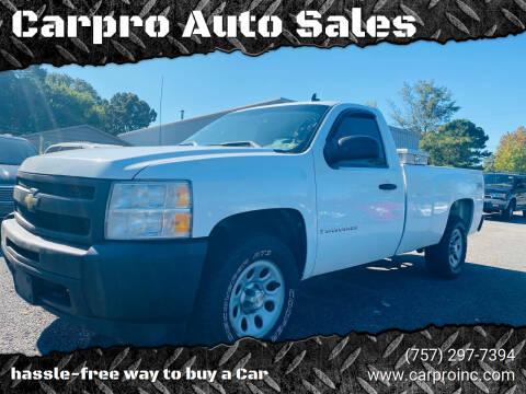 2009 Chevrolet Silverado 1500 for sale at Carpro Auto Sales in Chesapeake VA