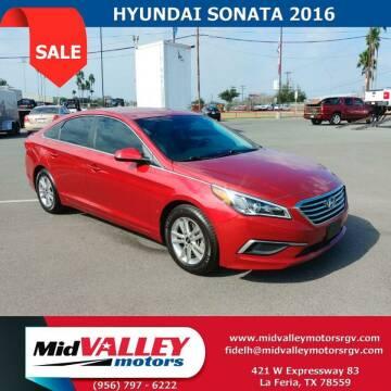 2016 Hyundai Sonata for sale at Mid Valley Motors in La Feria TX
