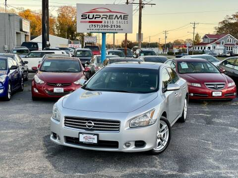 2011 Nissan Maxima for sale at Supreme Auto Sales in Chesapeake VA