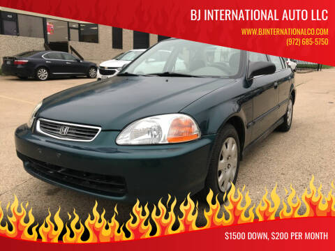 1998 Honda Civic for sale at BJ International Auto LLC in Dallas TX