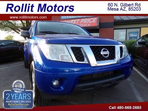 2014 Nissan Frontier for sale at Rollit Motors in Mesa AZ