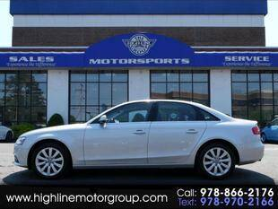 2013 Audi A4 for sale at Highline Group Motorsports in Lowell MA