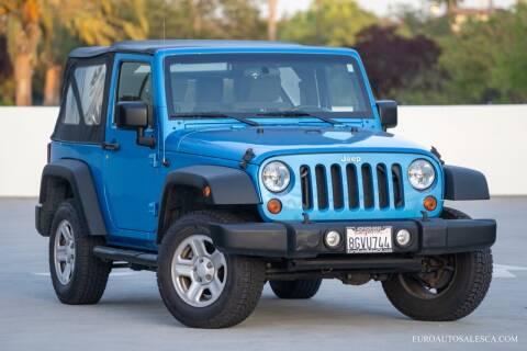 2010 Jeep Wrangler for sale at Euro Auto Sales in Santa Clara CA