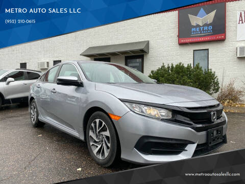 2018 Honda Civic for sale at METRO AUTO SALES LLC in Blaine MN