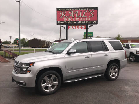 2015 Chevrolet Tahoe for sale at RAUL'S TRUCK & AUTO SALES, INC in Oklahoma City OK