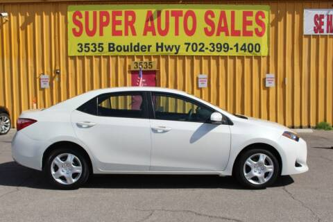 2018 Toyota Corolla for sale at Super Auto Sales in Las Vegas NV