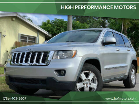 2011 Jeep Grand Cherokee for sale at HIGH PERFORMANCE MOTORS in Hollywood FL