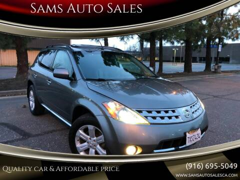 2007 Nissan Murano for sale at Sams Auto Sales in North Highlands CA