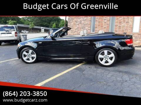 2008 BMW 1 Series for sale at Budget Cars Of Greenville in Greenville SC