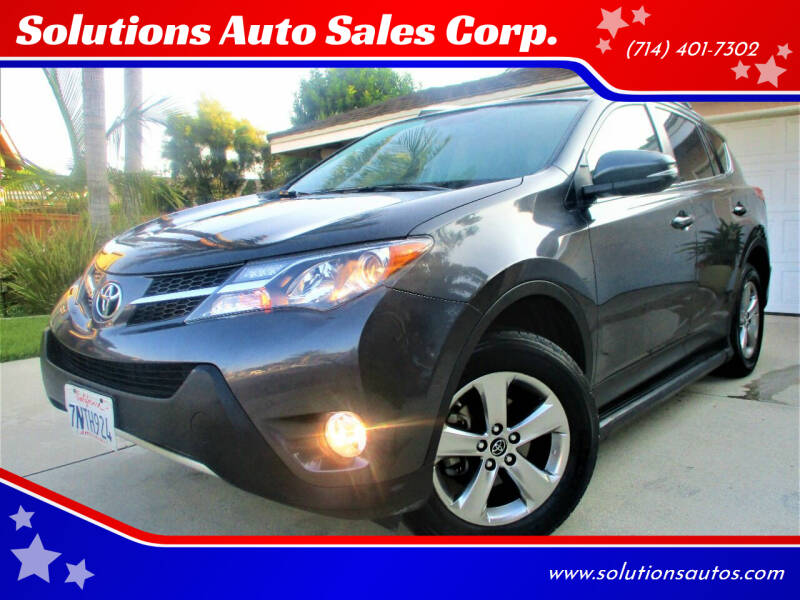 2015 Toyota RAV4 for sale at Solutions Auto Sales Corp. in Orange CA