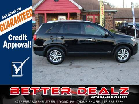 2014 Kia Sorento for sale at Better Dealz Auto Sales & Finance in York PA