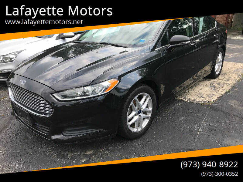 2015 Ford Fusion for sale at Lafayette Motors in Lafayette NJ