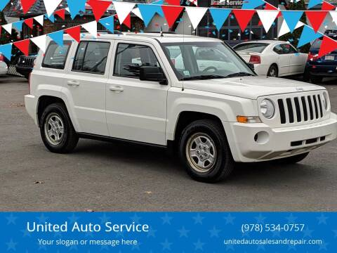 2010 Jeep Patriot for sale at United Auto Service in Leominster MA