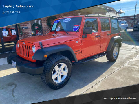 2015 Jeep Wrangler Unlimited for sale at Triple J Automotive in Erwin TN